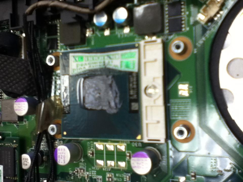 Термопаста на процессоре стала засохшей карамелью
